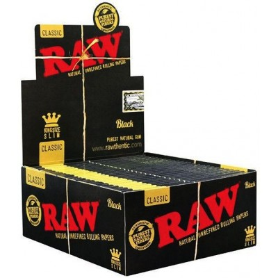 RAW BLACK KING SIZE *DOUBLE...
