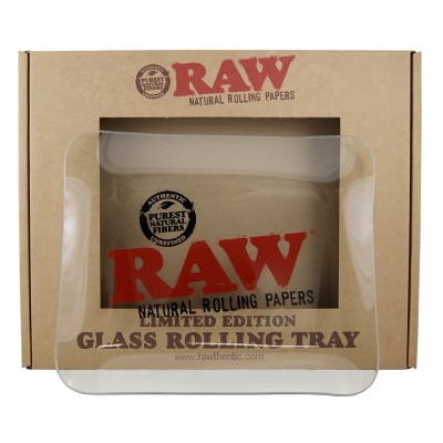RAW GLASS TRAY 32x26CM