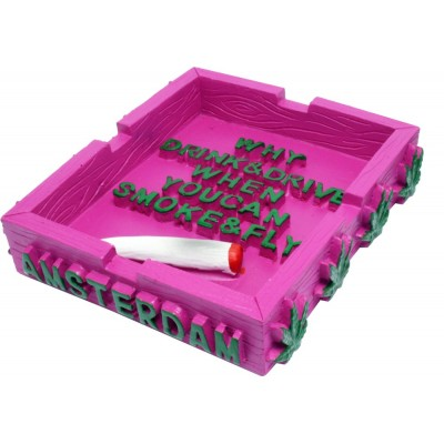 POLYRESIN ASHTRAY IN PINK...