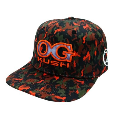 OG KUSH 420 CAMO CAP - ORANGE