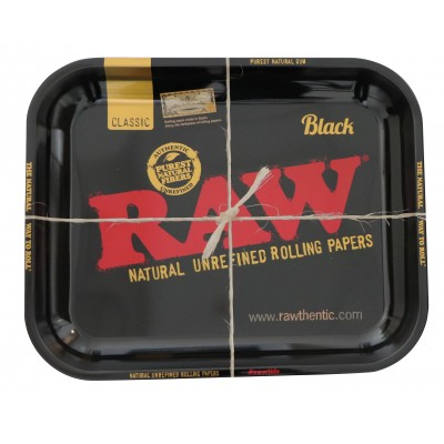 RAW BLACK METAL ROLLING TRAY