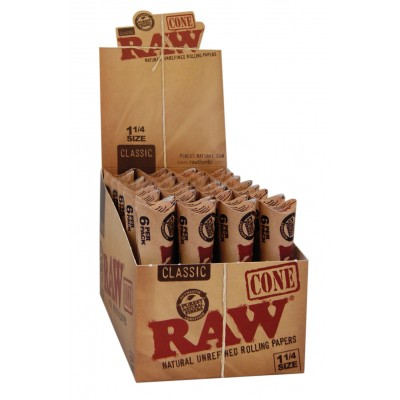 RAW CONE 6PKS 32/DISPLAY