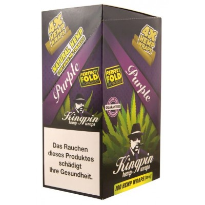 KINGPIN HEMP WRAP PURPLE