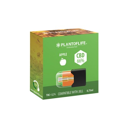 POD CBD WAX 66% APPLE 0,75ML