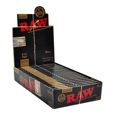 RAW BLACK 1¼ X24 PCS