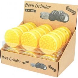 PLASTIC GRINDER YELLOW NEON...
