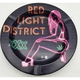 METAL TIN ASHTRAY - XXX RED...