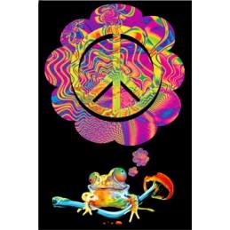 UV POSTER - MUSHROOM PEACE
