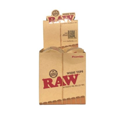 RAW TIPS WIDE PREROLLED