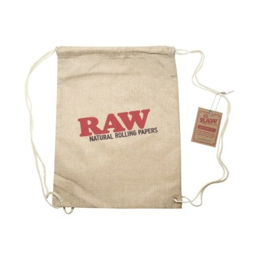 RAW DRAWSTRING BAG - TAN