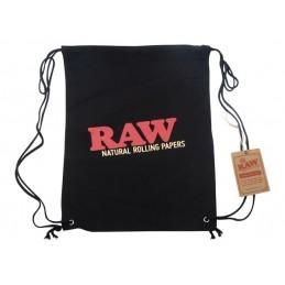 RAW DRAWSTRING BAG - BLACK