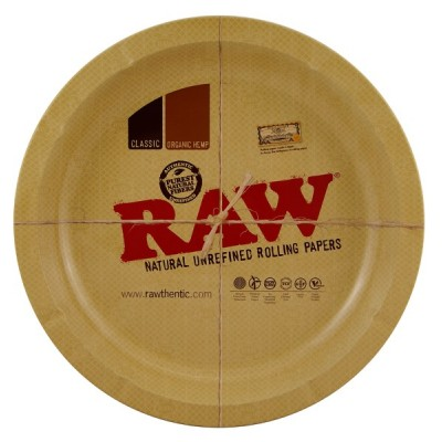 RAW METAL TRAY ROUND