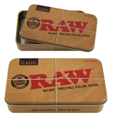 RAW METAL TIN CASE X6 STK