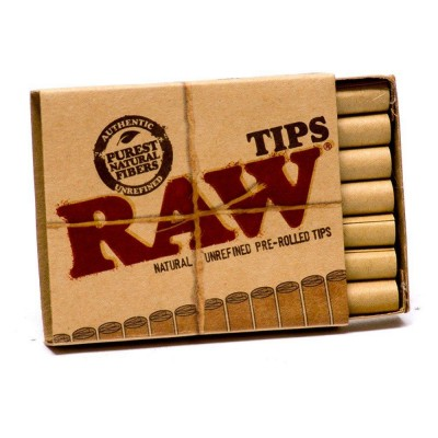 RAW TIPS PREROLLED - box of 20